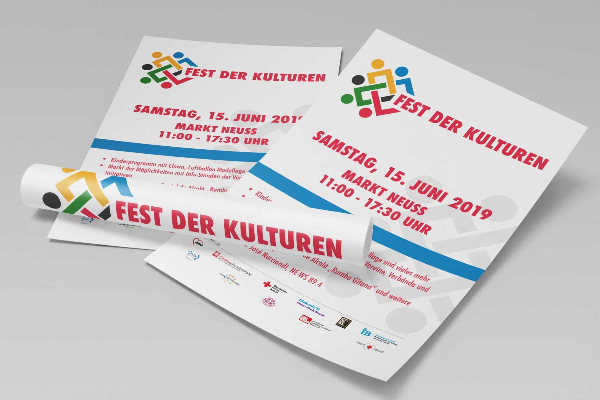 Plakate Fest der Kulturen